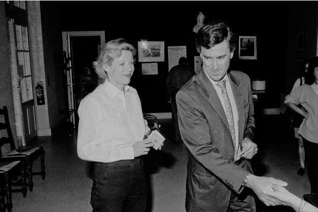 Patricia Cahuzac aux côtés de Jérôme Cahuzac le 25 mai 1997, lors du premier tour des élections législatives à Villeneuve-sur-Lot.