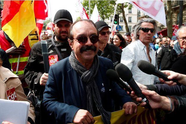 Philippe Martinez à Paris le 1er mai.