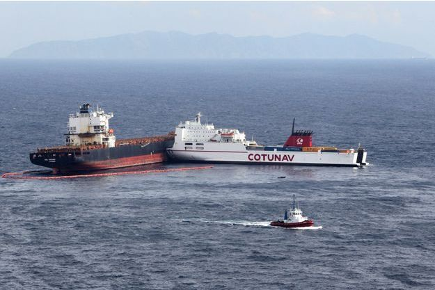 La collision des deux bateaux s'est produite au large de la Corse.