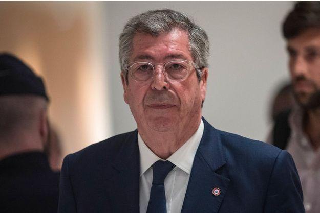 Patrick Balkany au palais de justice de Paris, lundi.