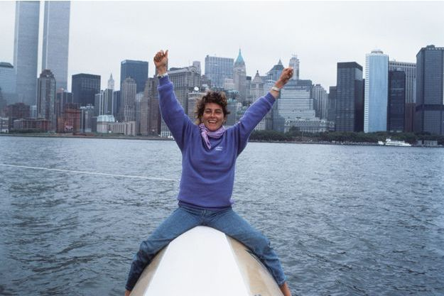 Florence Arthaud à New York en 1990