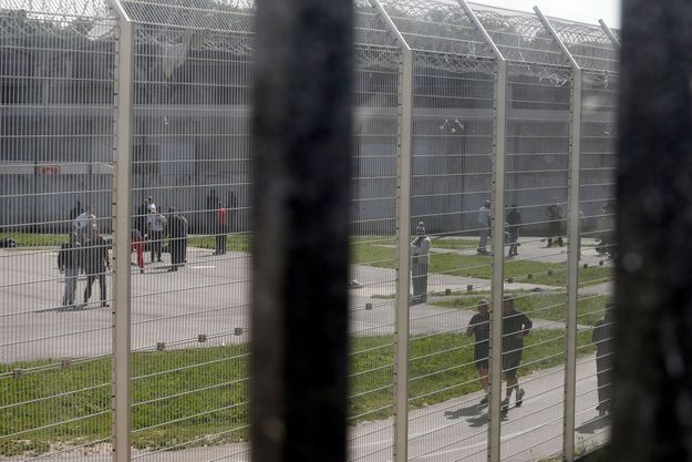 La cour de la prison de Fleury-Mérogis qui accueillera deux « quartiers dédiés » aux détenus radicalisés.