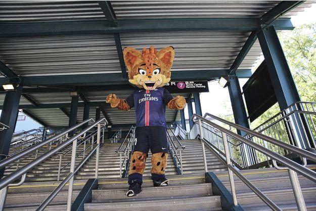 Germain le lynx, la mascotte du PSG, accompagnait l'équipe aux Etats-Unis cet été.