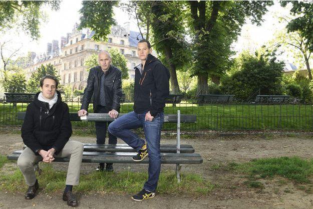 Réunis à Paris pour continuer le combat. De g. à dr., Emmanuel de Fournas, Stéphane Lambert et Vincent Fichot.