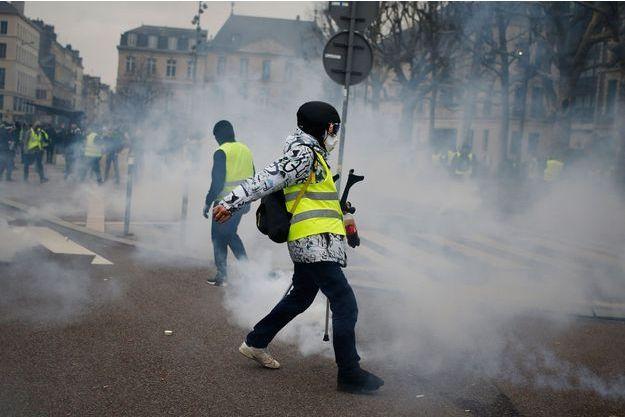Manifestation de «gilets jaunes» à Rouen, le 5 janvier 2019.