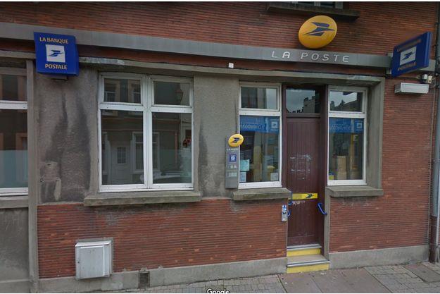 Le bureau de poste de Guînes, dans le Pas-de-Calais.