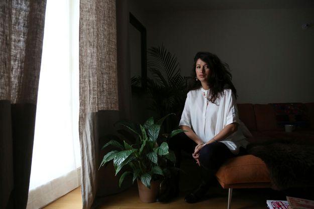 Zineb El Rhazoui, chez elle, le 14 mars.