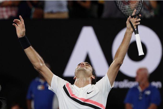 Roger Federer a remporté l'Open d'Australie dimanche.
