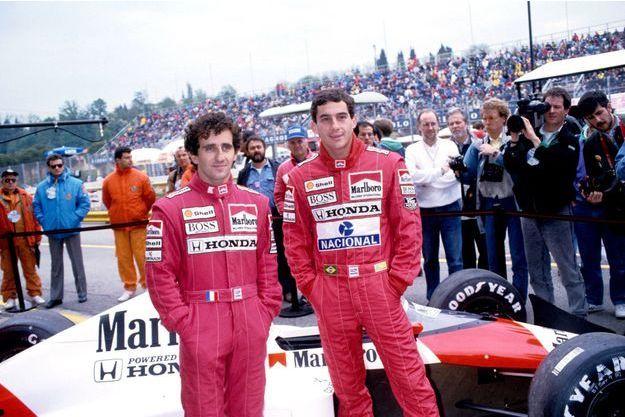 Alain Prost et Ayrton Senna à Imola.