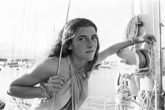 En Novembre 1978, Florence Arthaud au départ de sa première route du Rhum.