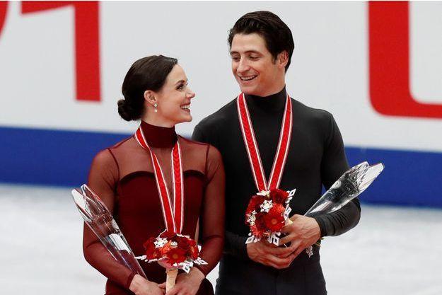 Tessa Virtue et Scott Moir, le couple canadien de danse sur glace.