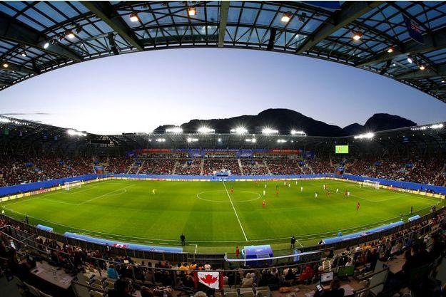 Le stade des Alpes, à Grenoble, lors du match Canada - Nouvelle-Zélande
