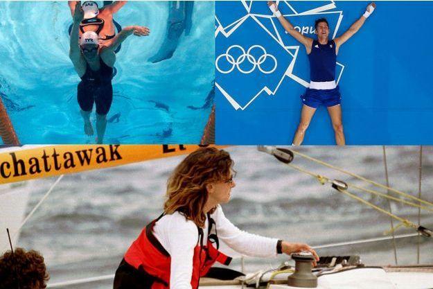 Alexis Vastine aux Jeux olympiques en 2012, Camille Muffat en 2013 et Florence Arthaud en 1996.