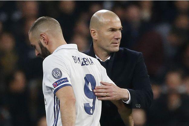 Zinédine Zidane et Karim Benzema en février dernier.