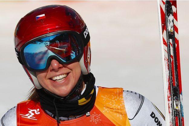 Ester Ledecka, championne olympique de Super G à Pyeongchang