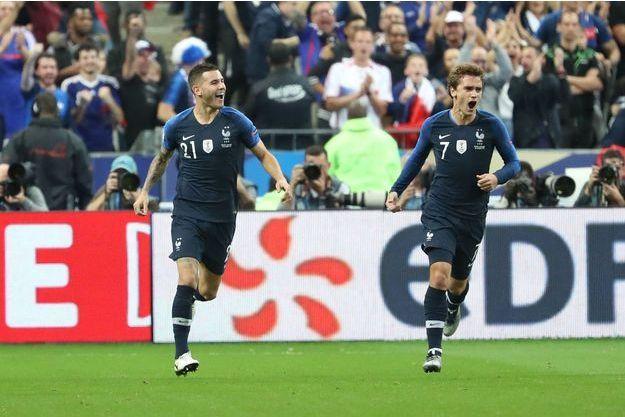 Antoine Griezmann a marqué un but magnifique sur un centre de Lucas Hernandez.