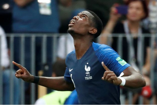 Paul Pogba a inscrit le troisième but de l'équipe de France.