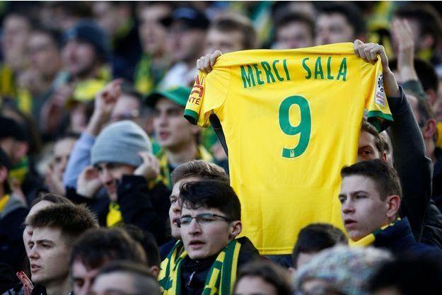 Des supporters nantais lors du match opposant le FC Nantes contre Nîmes.