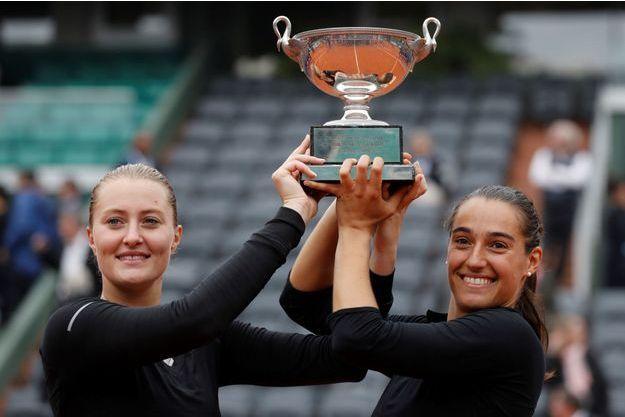 Les Françaises Kristina Mladenovic et Caroline Garcia avaient remporté Roland-Garros en double