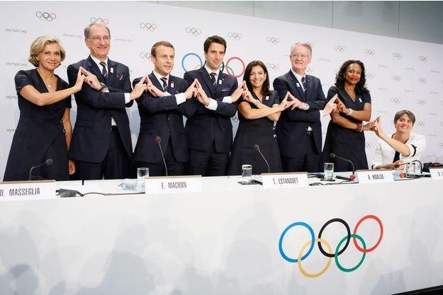La délégation française à Lausanne, en Suisse, le 11 juillet 2017.