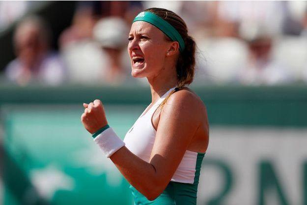 Kristina Mladenovic, vendredi à Roland-Garros.
