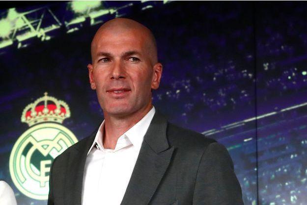 Zinédine Zidane lors de la conférence de presse du 11 mars 2019.