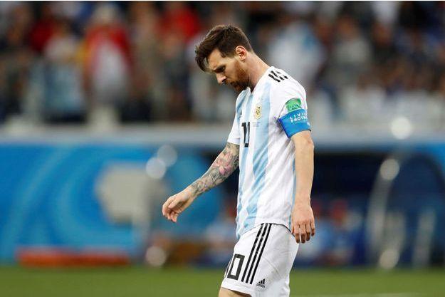Lionel Messi a quitté le stade tête basse à l'issue de la rencontre.