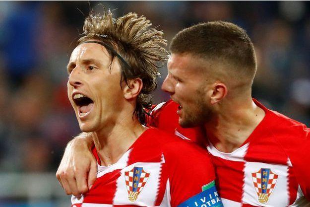 Luka Modric a inscrit le deuxième but croate.