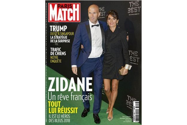 Avec Véronique pour les Fifa Football Awards, le 23 octobre 2017. Zizou y remportera le titre de meilleur entraîneur mondial.
