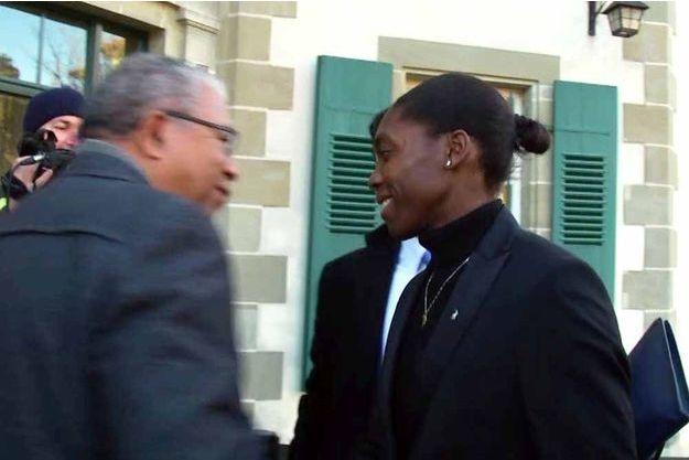 Caster Semenya à son arrivée au Tribunal arbitral du Sport.