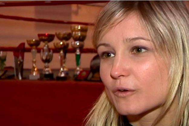 Angélique Duchemin dans un reportage qui lui était consacré.