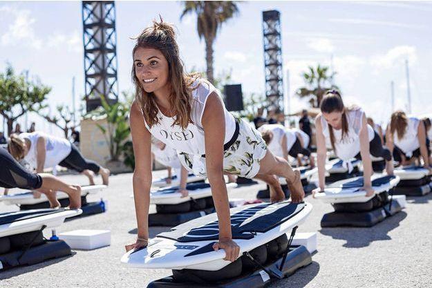 Victoria Vergara à Barcelone à l'occasion du Oysho surf's up.