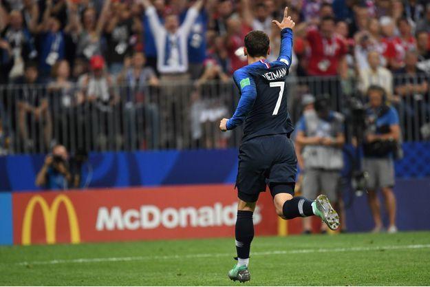 Antoine Griezmann a marqué le deuxième but de l'équipe de France.