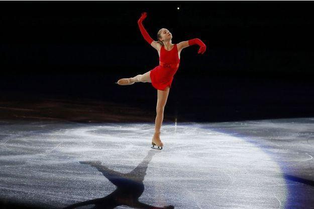 Yulia Lipnitskaya lors du gala de clôture de patinage aux JO de Sotchi, en 2014.