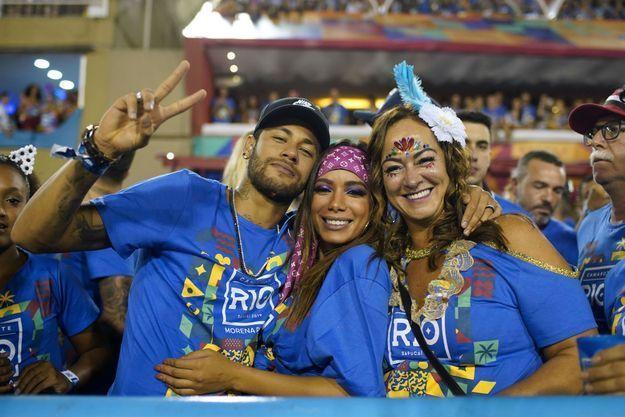Neymar lundi au carnaval de Rio.