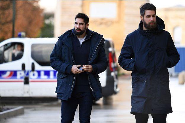 Nikola et Luka Karabatic devant le tribunal de Montpellier, le 1er février 2017.