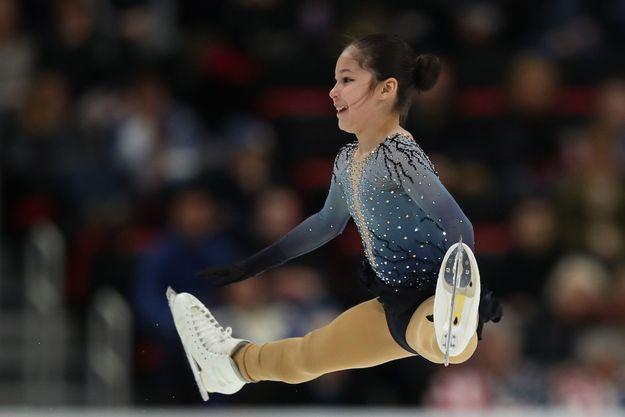 Alysa Liu sur la glace, le 25 janvier 2019.