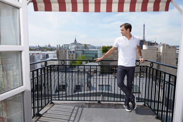 Le champion pose pour Match, le 23 mai à Paris.