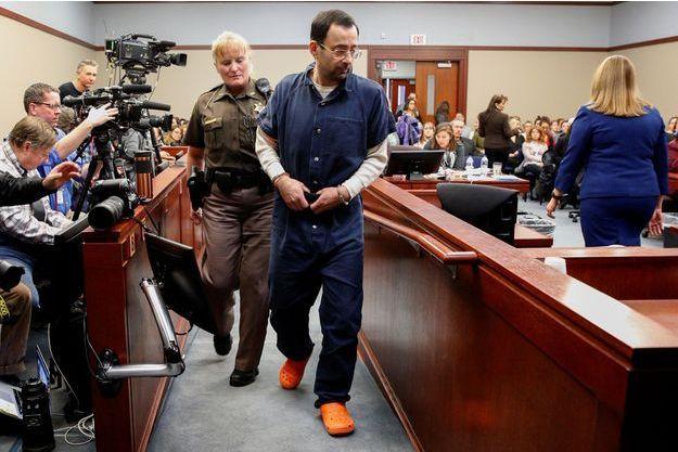 Le docteur Larry Nassar la semaine dernière devant la justice.