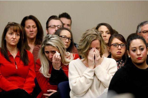 Les victimes du docteur Nassar en janvier dernier lors du procès de l'ancien médecin.