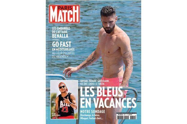 La Une de Paris Match numéro 3611, en kiosques jeudi.