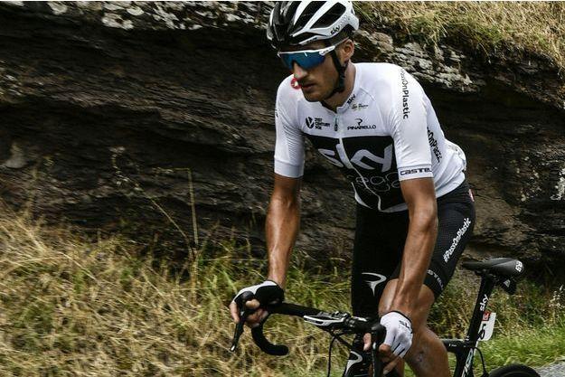 L'ltalien Gianni Moscon sur la route du Tour de France.