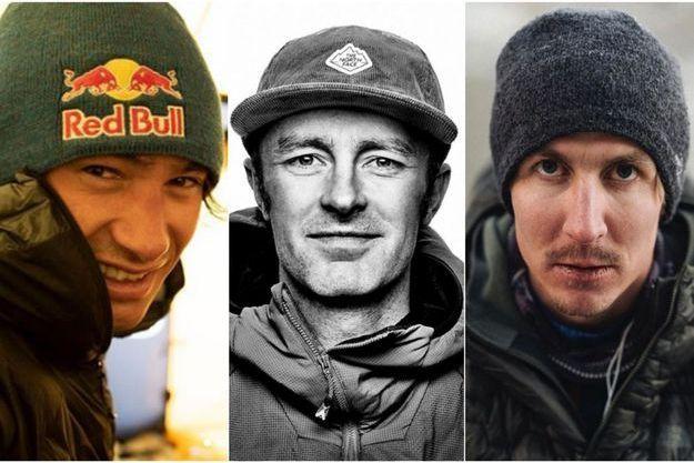 De gauche à droite : David Lama, Jess Roskelley et Hansjörg Auer.
