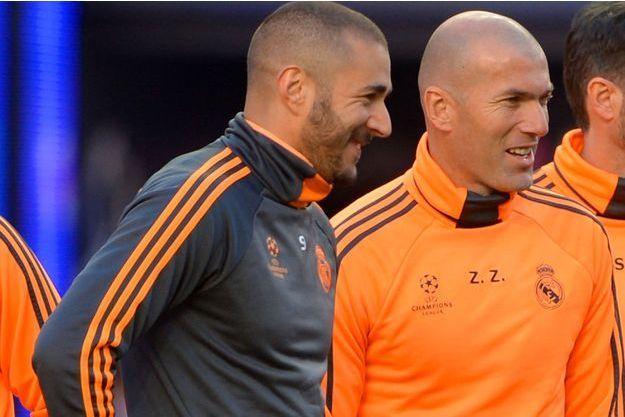 Karim Benzema et Zinedine Zidane