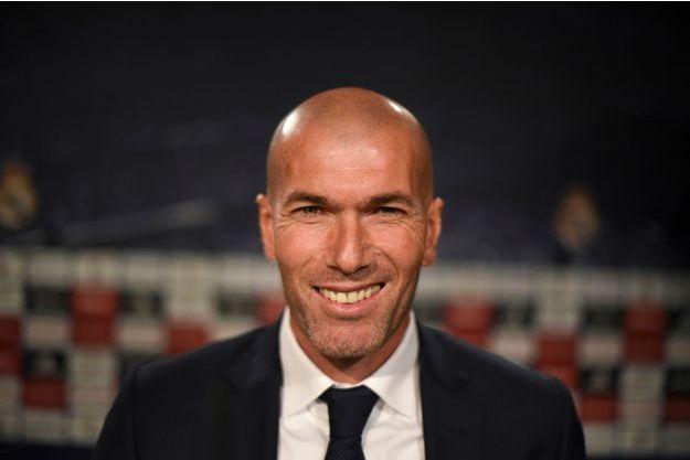 Zinédine Zidane lors de la conférence de presse, mardi, à Madrid