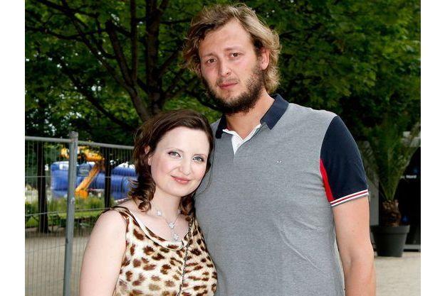 Amaury Leveaux et sa compagne, Elizaveta, à la soirée VIP pour l'ouverture de la fête des Tuileries le 26 juin dernier.