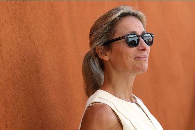 Anne-Sophie Lapix au village Roland-Garros en 2015.
