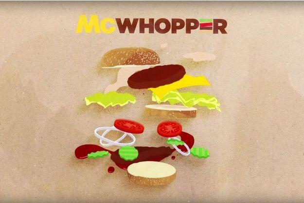 Le McWhopper, un mix du Big Mac et du Whopper.