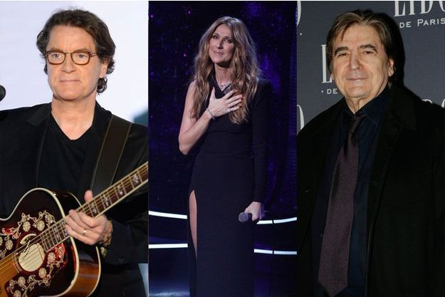 Francis Cabrel, Céline Dion, Serge Lama
