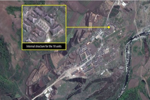 Les constructions constatées par Amnesty International dans le camp 16.